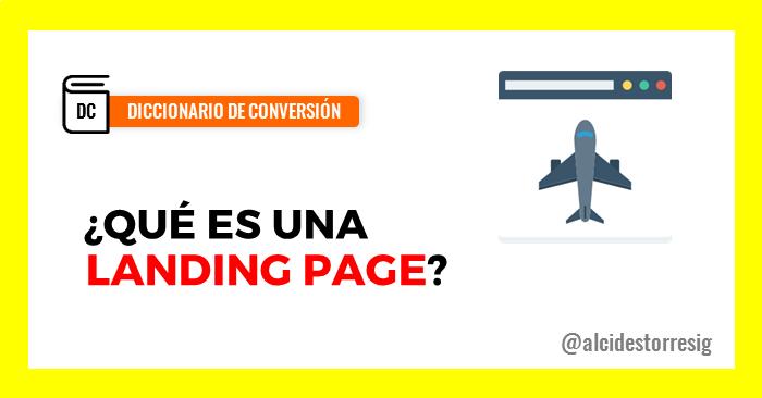 qués es una landing page